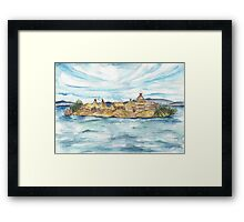 Uros islands Framed Print