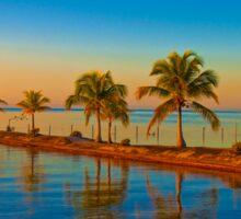 Guatemala. Atlantic Coast. Sunset. Sticker