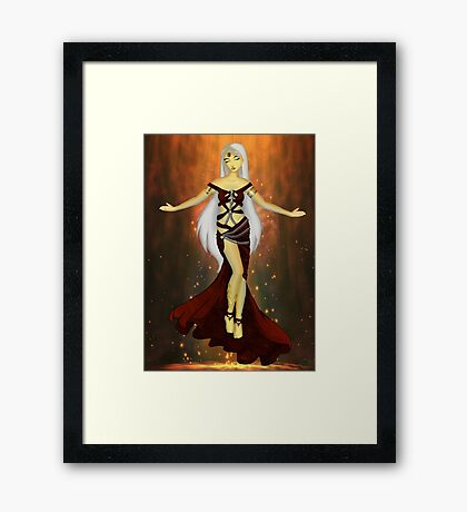 fire elf Framed Print
