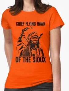 Chief Flying Hawk (of The Sioux) Womens Fitted T-Shirt