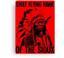 Chief Flying Hawk (of The Sioux) Canvas Print