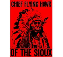 Chief Flying Hawk (of The Sioux) Photographic Print