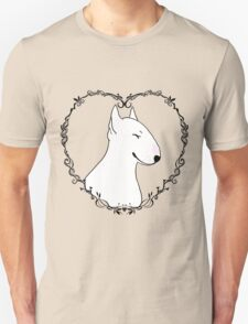 Love Bull Terrier - Black & White T-Shirt