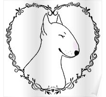 Love Bull Terrier - Black & White Poster