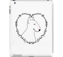 Love Bull Terrier - Black & White iPad Case/Skin