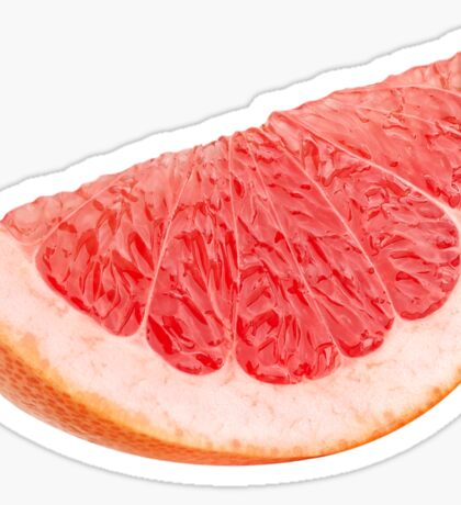 Piece of pink grapefruit Sticker