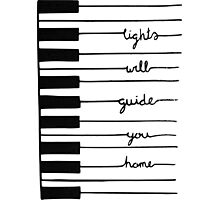 Piano keys-Lights will guide you home Photographic Print