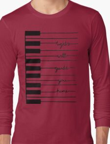 Piano keys-Lights will guide you home Long Sleeve T-Shirt