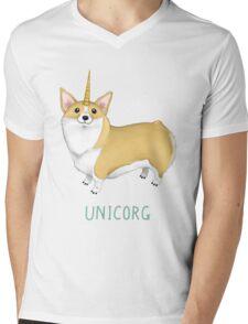 Unicorg Mens V-Neck T-Shirt