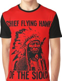 Chief Flying Hawk (of The Sioux) Graphic T-Shirt