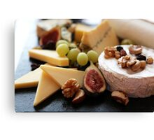 Cheese Feast - Macro Photography Canvas Print