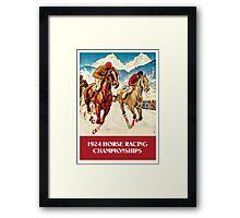 Retro vintage 1920s Horse Racing championships Framed Print