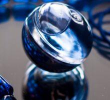 Blue Bubble - Macro Photography Sticker