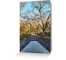 Tee Box View Down a Dirt Path Greeting Card