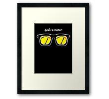 Geek-O-Meter Framed Print
