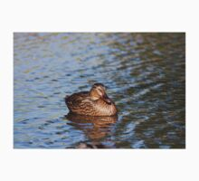 Female Mallard Duck Floating On Lake Kids Tee