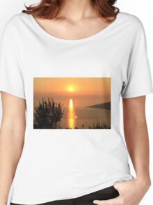 Orange Sunset - Nature Photography Women's Relaxed Fit T-Shirt