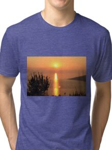 Orange Sunset - Nature Photography Tri-blend T-Shirt