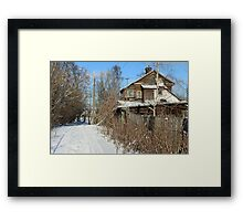 Rural house winter Framed Print