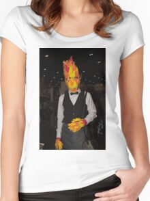 London Super Comic Convention opens at ExCel Women's Fitted Scoop T-Shirt