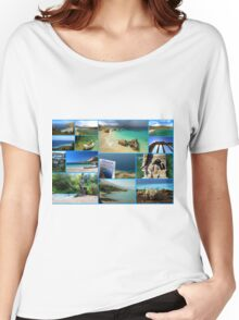 Collage/Postcard from Albania 3 - Travel Photography Women's Relaxed Fit T-Shirt