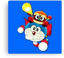 Doraemon Flying Dorayaki  Canvas Print