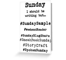 Hashtag Writer Week - Sunday Greeting Card