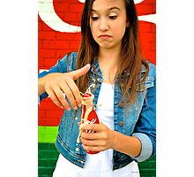 Coke Explode Kelsey Photographic Print