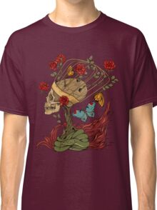 skull, snake, butterflies and flowers Classic T-Shirt