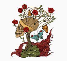 skull, snake, butterflies and flowers Unisex T-Shirt