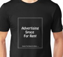 Advertisment Space for Rent - Black Unisex T-Shirt