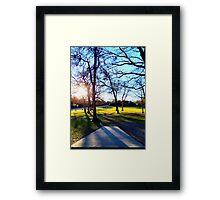 Roadside Shot Into the Sunset Framed Print