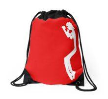 Stickman Jackson White Toe Stand - side Drawstring Bag