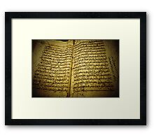 Old Quran  Framed Print