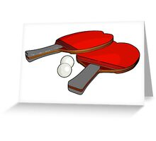 Valentine's ping pong paddles Greeting Card