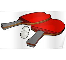 Valentine's ping pong paddles Poster