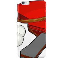 Valentine's ping pong paddles iPhone Case/Skin