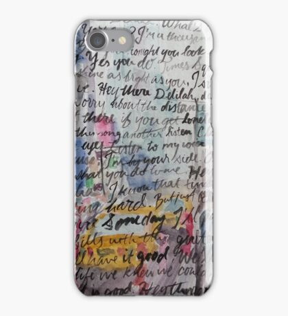 Hey There Delilah Lyrics iPhone Case/Skin