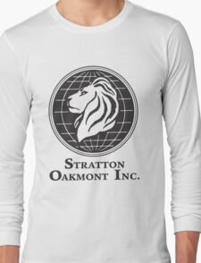 Stratton Oakmont T-Shirt Wolf of Wall Street Tshirt Jordan Belfort Ludes T Shirt Movie Cult Gift Martin Scorsese Him Her Logo Stock Market Long Sleeve T-Shirt