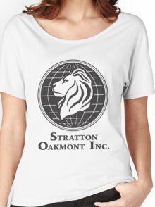 Stratton Oakmont T-Shirt Wolf of Wall Street Tshirt Jordan Belfort Ludes T Shirt Movie Cult Gift Martin Scorsese Him Her Logo Stock Market Women's Relaxed Fit T-Shirt