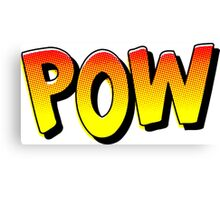 """POW"" Comic Pop-Art Canvas Print"