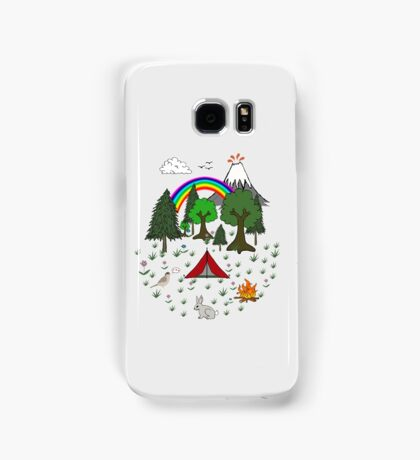 Cartoon Camping Scene Samsung Galaxy Case/Skin