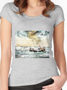 Noah's Ark Stragglers (2016) Women's Fitted Scoop T-Shirt