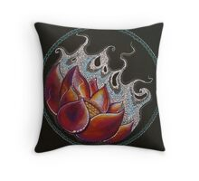 The Life of the Lotus Throw Pillow
