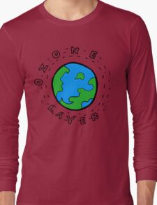 Earth's Ozone Layer Drawing Long Sleeve T-Shirt