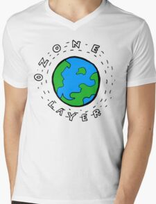 Earth's Ozone Layer Drawing Mens V-Neck T-Shirt