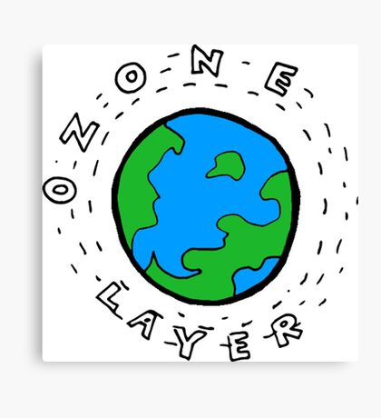 Earth's Ozone Layer Drawing Canvas Print