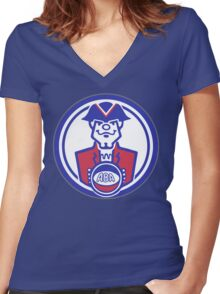 DEFUNCT - VIRGINIA SQUIRES Women's Fitted V-Neck T-Shirt