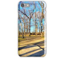 Shaded Tee Pad Looking Through the Woods iPhone Case/Skin