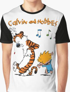 Calvin & Hobbes Dance Graphic T-Shirt